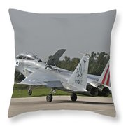 An F-15b Baz Of The Israeli Air Force Throw Pillow