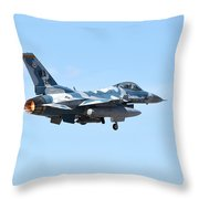 An F-16c Fighting Falcon From 64th Throw Pillow