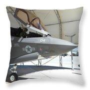 An F-35b Lightning II During Preflight Throw Pillow
