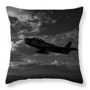 An F-86f Sabre In Flight Near Glendale Throw Pillow