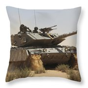 An Israel Defense Force Magach 7 Main Throw Pillow
