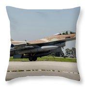 An Israeli Air Force F-16c Throw Pillow