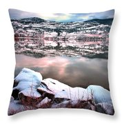 An Okanagan Winter Throw Pillow
