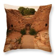 Anasazi Ruins  Throw Pillow