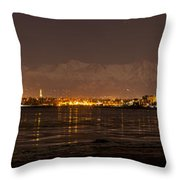Anchorage At Night Throw Pillow