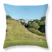 Ancient Mayan Ruins, Altun Ha, Belize Throw Pillow