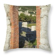 Ancient Town Of Gubbio  Throw Pillow