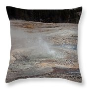 Anemone Geyser In Upper Geyser Basin Throw Pillow