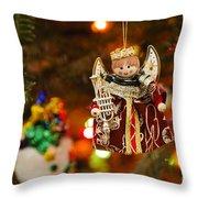 Angel Christmas Ornament Throw Pillow