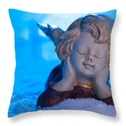 Angel In Snow  Throw Pillow