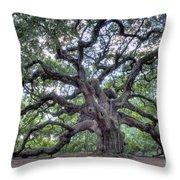 Angel Oak Throw Pillow