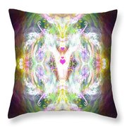 Angel Of Positive Thoughts Throw Pillow
