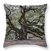 Angel Tree Throw Pillow