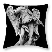 Angel With The Sponge  Throw Pillow