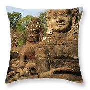 Angkor Thom South Gate Throw Pillow