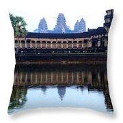 Angkor Wat Reflection Throw Pillow