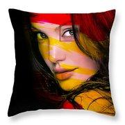 Angleina Jolie Throw Pillow
