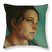 Anja Daydreaming Throw Pillow