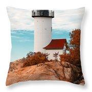 Annisquam Lighthouse Throw Pillow