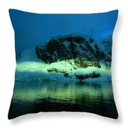 Antarctic Fiord Throw Pillow
