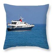 Antibes - Superyachts Of Billionaires Throw Pillow