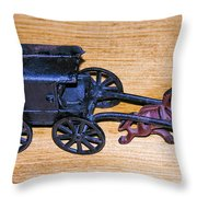 Antique Cast Iron Toy Throw Pillow