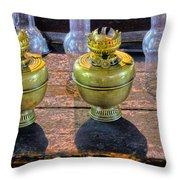 Antique Kerosene Lamps Throw Pillow