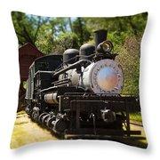 Antique Locomotive Throw Pillow
