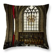 Antwerp Cathedral Throw Pillow