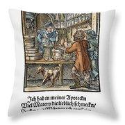 Apothecary, 1568 Throw Pillow