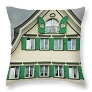 Appenzell Switzerland's Famous Windows Throw Pillow