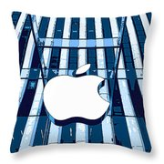 Apple In The Big Apple Throw Pillow