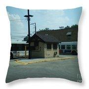 Archer/neva Cta Bus Terminal Throw Pillow
