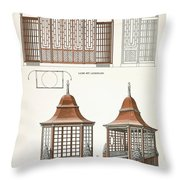 Architecture In Wood, C.1900 Throw Pillow
