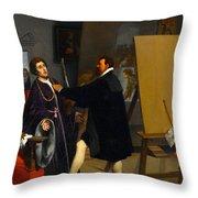 Aretino In The Studio Of Tintoretto Throw Pillow