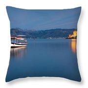 Argolikos Bay Throw Pillow