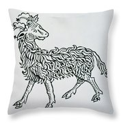 Aries An Illustration From The Poeticon Throw Pillow