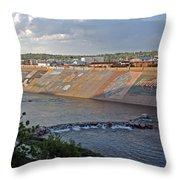 Arkansas River Walk Throw Pillow