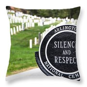 Arlington National Cemetery Part 1 Throw Pillow