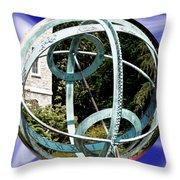 Armillary Sphere Throw Pillow