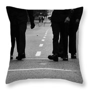 Arriving Soldiers  Throw Pillow