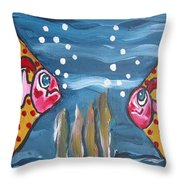 Art Fish Throw Pillow