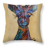 Girafe Art Throw Pillow