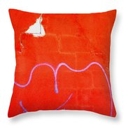 Art Homage Joan Miro Picacho Arizona 2005 Throw Pillow
