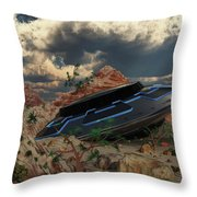 Artist Concept Of The Roswell Incident Throw Pillow