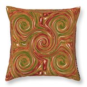 Artistic Embossed Twirl Decoration Chakra Style Unique Signature Navinjoshi Artist Created Images Te Throw Pillow