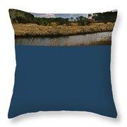Assateague Island Lighthouse Throw Pillow