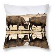 At The Waterhole V2 Throw Pillow