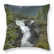 Athabasca Falls 2 Throw Pillow