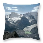 T-303504-athabasca Glacier In 1957 Throw Pillow